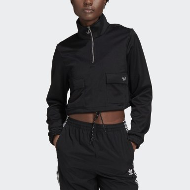 Sweat-shirt Quarter-Zip Noir Femmes Originals