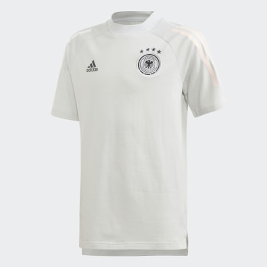 Youth 8-16 Years Football Grey Germany T-Shirt