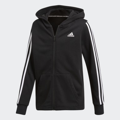 Boys Träning Svart Must Haves 3-Stripes Jacket