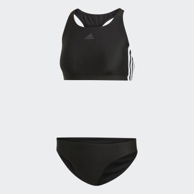 Bikini 3-Stripes Noir Femmes Natation