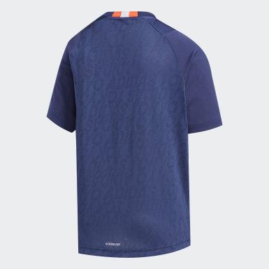 เด็กผู้ชาย เทรนนิง สีน้ำเงิน เสื้อยืด TR Game