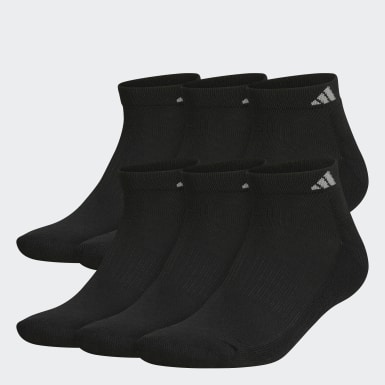 Men's Basketball Black Athletic Crew 6 Pairs