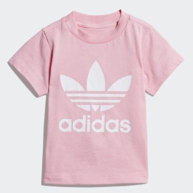 เด็กผู้หญิง Originals สีชมพู เสื้อยืด Trefoil