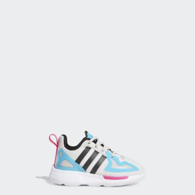 Infant & Toddler Originals Grey ZX 2K Flux Shoes