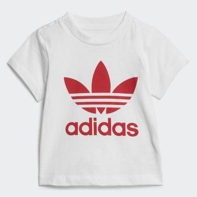 Børn Originals Hvid Trefoil Shorts and T-shirt sæt