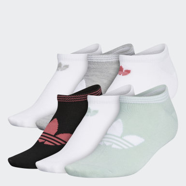 Women's Originals Green Trefoil Superlite No-Show Socks 6 Pairs