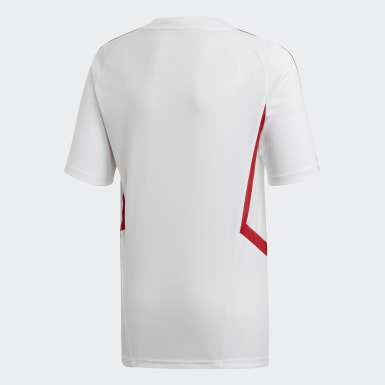 Youth 8-16 Years Football White Arsenal Training Jersey