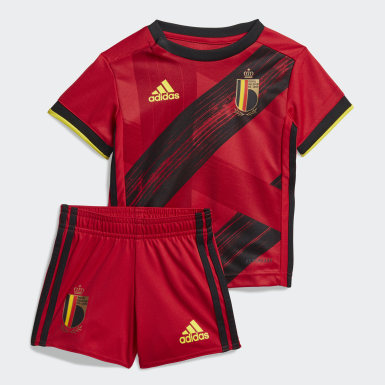 Kids Football Red Belgium Home Baby Kit