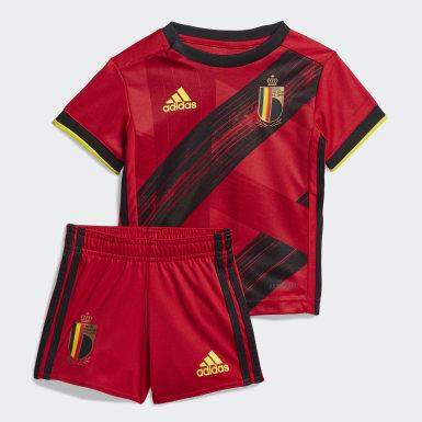Deti Futbal červená Súprava Belgium Home Baby