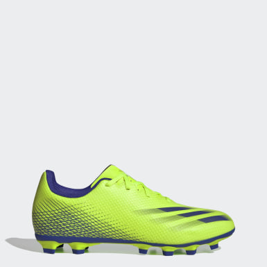 Men's Soccer Green X Ghosted.4 Flexible Ground Soccer Cleats