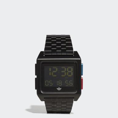 Originals zwart ARCHIVE_M1 Horloge