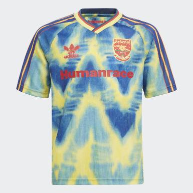Børn Fodbold Gul Arsenal Human Race trøje
