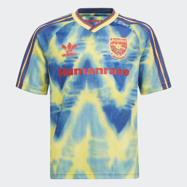Kinderen Voetbal Geel Arsenal Human Race Voetbalshirt