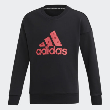 Sudadera Must Haves Badge of Sport Negro Niño Training