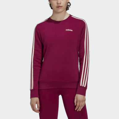 Women's Essentials Purple Essentials 3-Stripes Sweatshirt