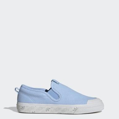 Zapatillas Nizza Sin Cordones Azul Mujer Originals