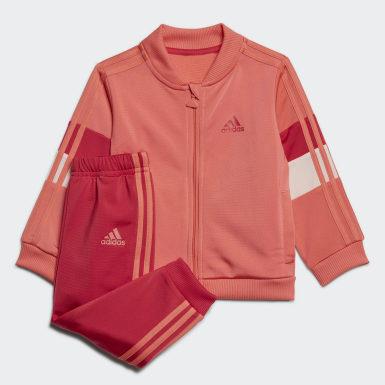 Barn Träning Röd Shiny Track Suit