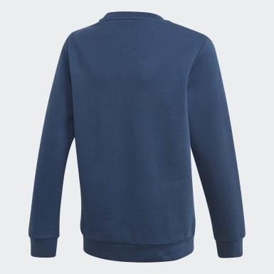 Sudadera cuello redondo Trefoil Azul Niño Originals