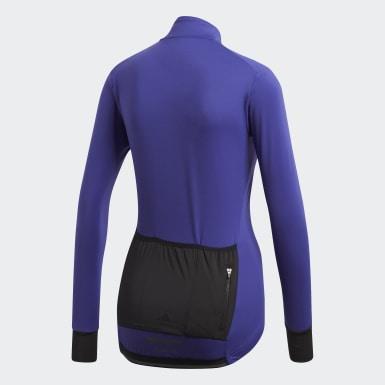 Camiseta de Ciclismo Climaheat Winter Morado Mujer Ciclismo