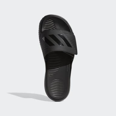 Men's Essentials Black Alphabounce Basketball Slides