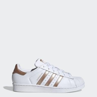 Adidas Sneaker Leder Lochung Weiß Orange : Markenschuhe sale