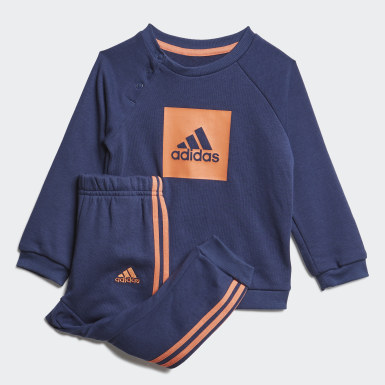 Kids Training Blue 3-Stripes Logo Jogger Set