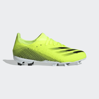 Children Soccer Yellow X Ghosted.3 Firm Ground Cleats
