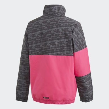 Youth Training Pink adidas x Classic LEGO® Bricks Half-Zip Warm Jacket