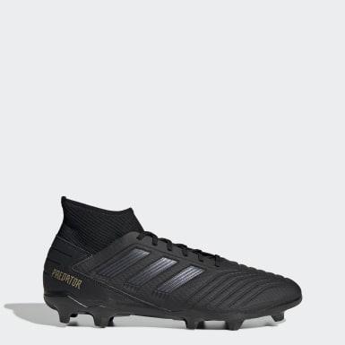 Zapatos de Fútbol Predator 19.3 Terreno Firme Negro Hombre Fútbol