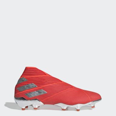 Calzado de Fútbol Nemeziz 19+ Terreno Firme Rojo Hombre Fútbol
