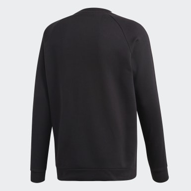 Men Originals Black 3-Stripes Crewneck Sweatshirt