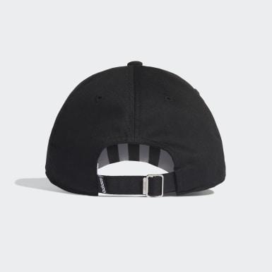 Lifestyle Black 3-Stripes Baseball Cap
