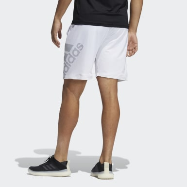Shorts 4KRFT Sport Graphic Badge of Sport Blanco Hombre Training