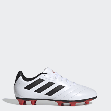 Boys Football White Goletto VII Firm Ground Boots