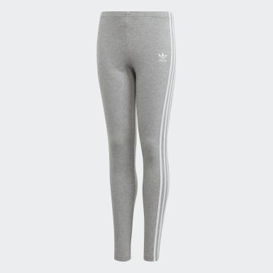 Youth Originals Grey 3-Stripes Leggings