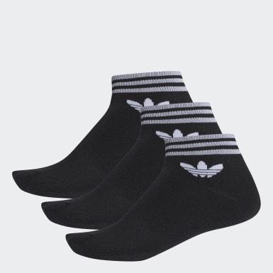 Originals Siyah Trefoil Bilek Boy Çorap 3 Çift