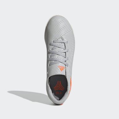 Children Soccer Grey Nemeziz 19.4 Indoor Shoes