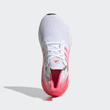 Youth Running White Ultraboost 20 Running Shoes