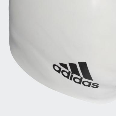 белый Шапочка для плавания Silicone Logo
