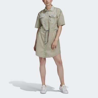 Women Originals Green R.Y.V. Shirt Dress