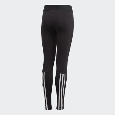 Leggings 3-Stripes Must Haves Preto Raparigas Ioga
