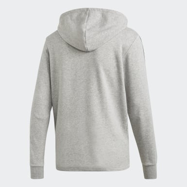 Άνδρες Athletics Γκρι Must Haves 3-Stripes French Terry Hoodie