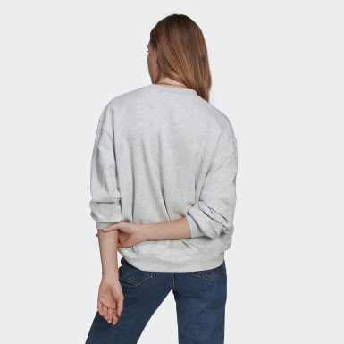 Women's Originals Grey LOUNGEWEAR Adicolor Essentials Sweatshirt