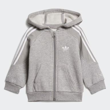 Kids Originals Grey Outline Hoodie Set