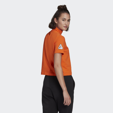 Dames Athletics Oranje adidas Sportswear Crop T-shirt