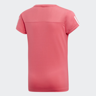 Mädchen Yoga Equipment T-Shirt Rosa