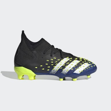 Boys Fodbold Sort Predator Freak.1 Firm Ground støvler