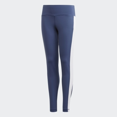 Girls Yoga Blue Believe This Bold Tights