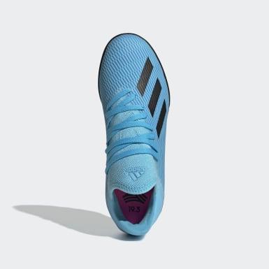 Zapatos de Fútbol X 19.3 Césped Artificial Turquesa Niño Fútbol