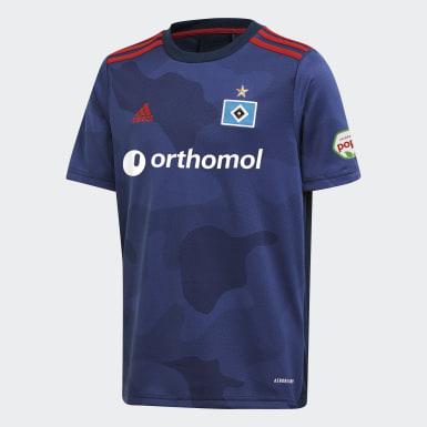 Børn Fodbold Blå Hamburger SV 20/21 udebanetrøje